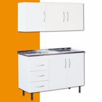 Mueble De Cocina Alacena + Mesada + Bacha En 12 Sin Interés