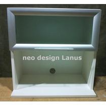 Alacena Porta Micro Ondas Puertas Aluminio Vidriada