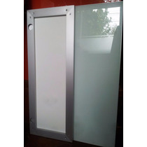 Puertas Alacena-bajo Mesada Marco Aluminio Con Vidrio Color