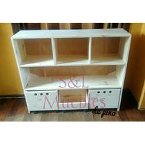 Mueble Organizador Infantil De Pino Con Revistero