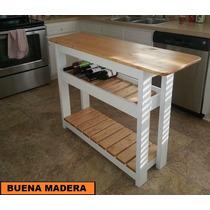Isla De Madera Para Cocina, Rustica, Mesa Auxiliar