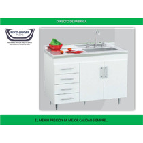 Bajo Mesada 140 Centro Estant Bm140 Blanco Wengue Cocina