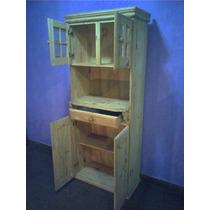 Mueble De Pino Con Espacio Microondas