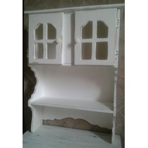 Antiguo Mueble De Campo Aparador Vajillero Cristalero