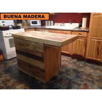 Isla De Madera Para Cocina, Rustica // Buena Madera