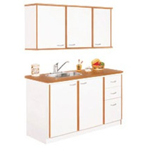 Mueble de cocina en melamina precio por metro lineal for Muebles cocina easy