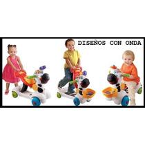 Andador 3en 1 Patineta Cebra Juego De Sonido Animal Baby Gym