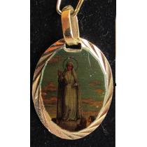Accesorios De Moda, Dijes Enchapados En Oro. Virgen De Fatim