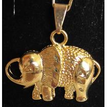 Accesorios De Moda, Dijes Enchapados En Oro. Elefante