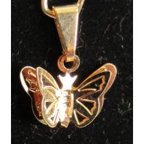 Accesorios De Moda, Dijes Enchapados En Oro. Mariposa