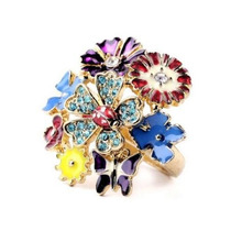 Anillo Floral Betsey Johnson