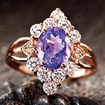 Anillo Violetta Iolita De 1 7/8 Kilates Con Diamantes