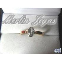 Anillo De Oro 18k Cintillo Con Circone 4 Gramos - M. J. -