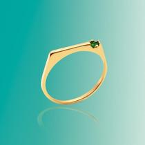 Anillo Laminado En Oro - Con Cubic - Rommanel