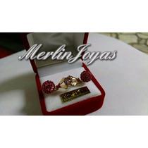 Anillo Cintillo Con Circon Rosa - Oro 18k - 2 Gramos - M. J