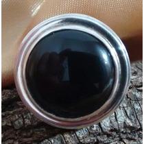 Anillo De Plata 925 Con Piedra Onix Negro-dia De La Mujer