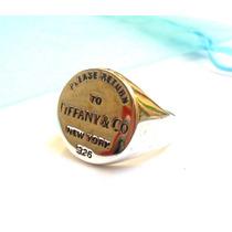 Anillo Tiffany & Co De Plata 925. Solo En Urbana Joyas.-