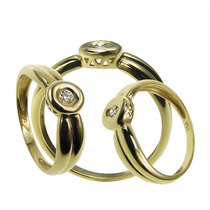 Anillo Solitario Diamante Oro 18 Kts.- Free Watch Jewellry