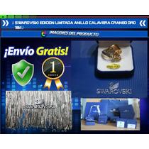 Swarovski Edicion Limitada Anillo Alianza Calavera Oro 18k