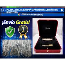 Pulsera Esclava Europeo Original Oro 18k Con Diamantes