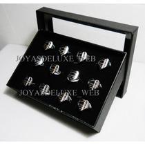 Lote X12 Anillos Tiffany + Estuche Aceroquirurgico 316l