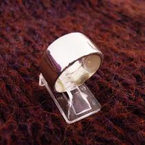 Anillo Diseño Alianza Moderna Ancho Liso Plata 925 A56