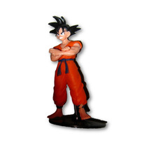 Goku Dragon Ball Z Montado Con Base