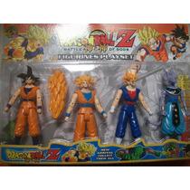 Dragon Ball Z Kai Set X 4 Muñecos Goku Vegeta Gohan Bills