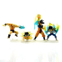 Dragon Ball Z Gt Goku Vegeta Nappa Set Por 4 Figuras S.isid.