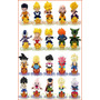 Dragon Ball Z Mini Toy Sticker Design Chara Puchi Cell Goku