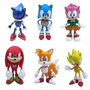 Sonic The Hedgehog Set Por 6 Figuras Original Team Sega