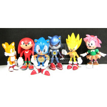 6 Figuras Sonic The Hedgehog Original Team Sega Ideal Torta