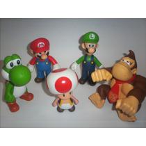 Personajes De Super Mario-luigi-yoshi-toad-donkey Kong-$115
