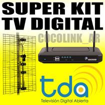 Kit Digital Tda Decodificador + Antena + Cable Sin Abonos!!!