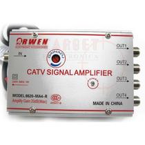 Amplificador De Antena Catv 20 Db 4 Salidas C/control Gananc