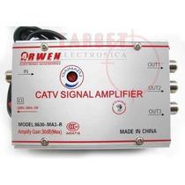 Amplificador De Señal 4 Salidas 20 Db C/regulacion