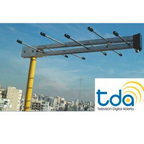 Antena Tda Tv Digital Uhf 25km Distancia Conexion Rf