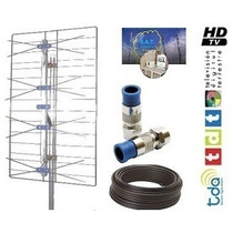 Kit Antena Tv Digital Tda Hd + Cable Coaxil Rg6