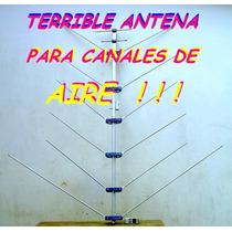 Analógica Tv Television Canales De Aire 14 Elementos Vhf Nva