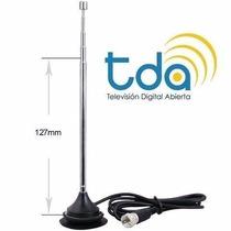 Antena Interior Tda Extensible Base Imantada Y Ficha F Rg59