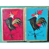 Barajas Naipes Cartas Antiguo Con Su Caja 2 Mazos