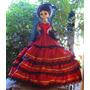 Muñeca Vestido Dama Antigua.