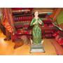 Antigua Talla Madera Figura Virgen Maria Sin Niño Dios. Sant