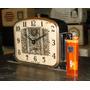 Antiguo Reloj De Mesa Hona Usa Art Deco (---)