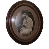 Antiguo Marco Oval Con O Sin Foto Primera Comunión 1920