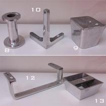 Patas Aluminio Para Muebles Sofa Mesas Bajas Sillones N12,13