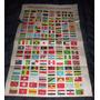 Antigua Plancha De Banderas De Todos Los Paises
