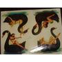 Antiguas Calcomanias Mujeres Sugestivas Con Cisnes