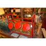 Ideal Decoracion Antigua Caramelera Con 3 Frascos Circulares