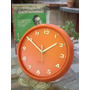 Retro Vintage Reloj Naranja Optim 1970 Cuarzo Japon (6559)